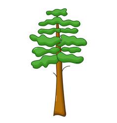 pine tree icon cartoon style vector image