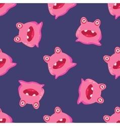 Pink Alien Seamless Pattern vector