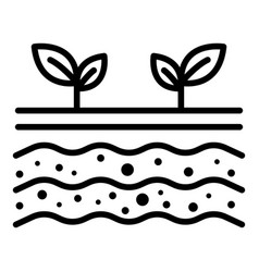 Plant shoots icon outline style vector