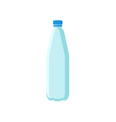 plastic bottle for mineral water or soda drinks vector image