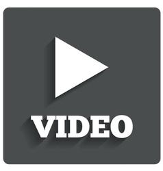 Play video button Player navigation vector