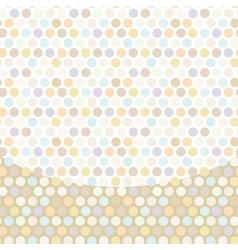 Polka dot background pattern pastel dot on white vector image