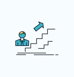 Promotion success development leader career flat vector