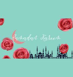 Ramadan mubarak vector