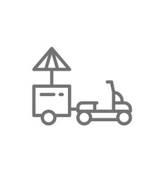 refrigerator scooter food truck line icon vector image