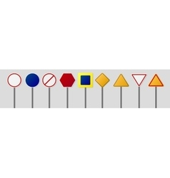 Road signs pack vector