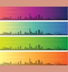 San diego multiple color gradient skyline banner vector