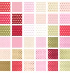 Seamless abstract retro pattern set 36 polka vector