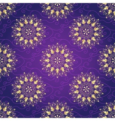 Seamless dark violet christmas pattern vector image