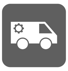 Service Car Flat Squared Icon vector