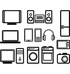 Set electronic devices vector