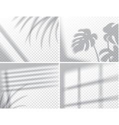 Set shadows overlay effects mock up window vector