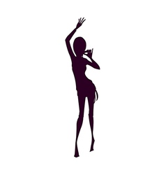 Shadow of Woman vector