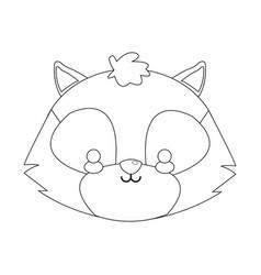 Skunk cartoon icon vector