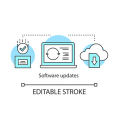 Software updates concept icon vector