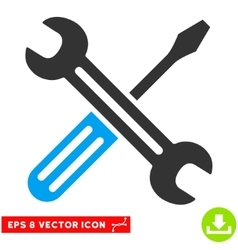 Spanner And Screwdriver Eps Icon vector