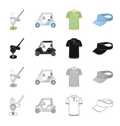 sports putter ball and other web icon in vector image