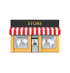 Store front shop with empty showcase vector