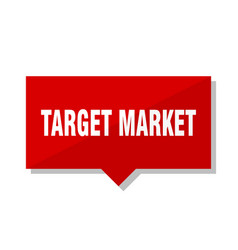 target market red tag vector image