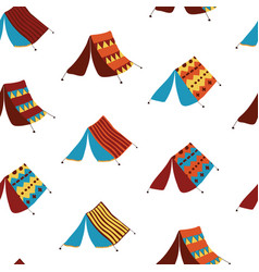 Teepee tents seamless pattern background vector