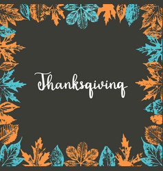 thanksgiving typography hand drawn vector image