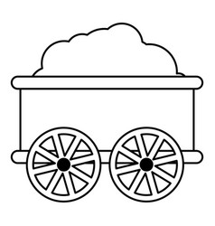 train wagon icon outline style vector image