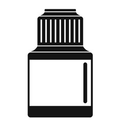 Vaping liquid bottle icon simple style vector