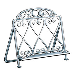vintage wrought iron bookends isolated on a white vector image