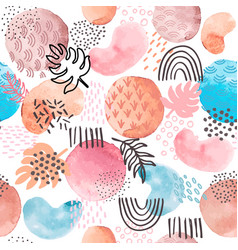watercolor abstract seamless pattern creative vector image