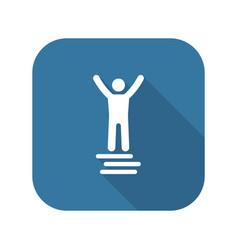 Winner icon business concept flat design vector
