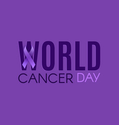 world cancer day poster banner or brochure vector image