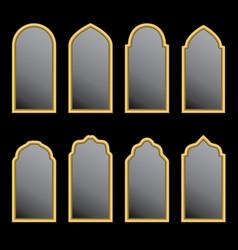 arabic window shape vector image