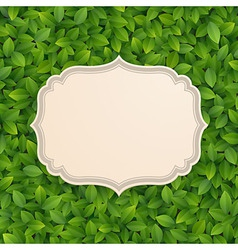 card in foliage vector image vector image