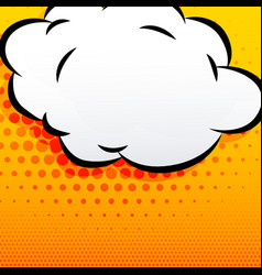 cartoon cloud comic style background vector image vector image