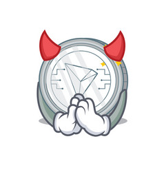 devil tron coin character cartoon vector image vector image