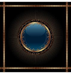 golden vintage card design - vector image vector image