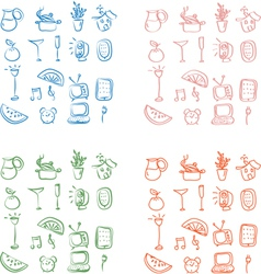 Home related icons vector image