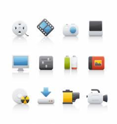 icon set multimedia vector image vector image