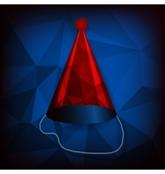 Red birthday cap vector image vector image