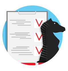 strategy checklist icon vector image vector image