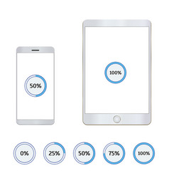 tablet and mobile phone with loading bar vector image