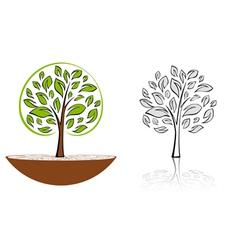 Tree emblem 6 vector