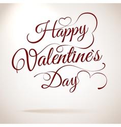 Valentines day vintage lettering EPS 10 vector image vector image