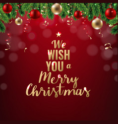 xmas new year postcard vector image