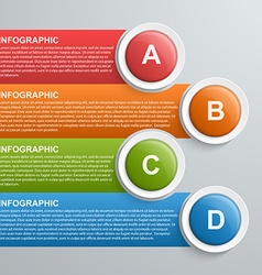 Abstract infographic design template vector image