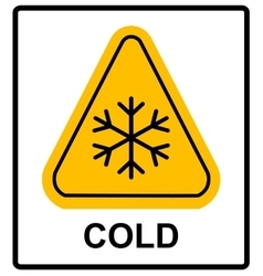 Cold warning sign snow warning - triangular sign vector image vector image