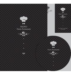 design elements for a restaurant vector image