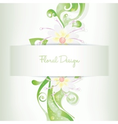 floral card invitation blooming flowers vector image
