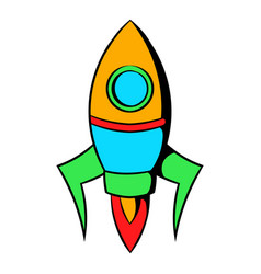 Rocket icon cartoon vector