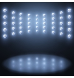 stage lights Abstract sparkling background vector image vector image
